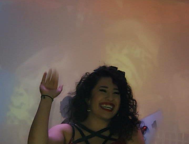 Maxine Hinojosa of Abilene won $500 at a Selena Quintanilla look-alike contest in San Antonio Friday, March 22, 2019.