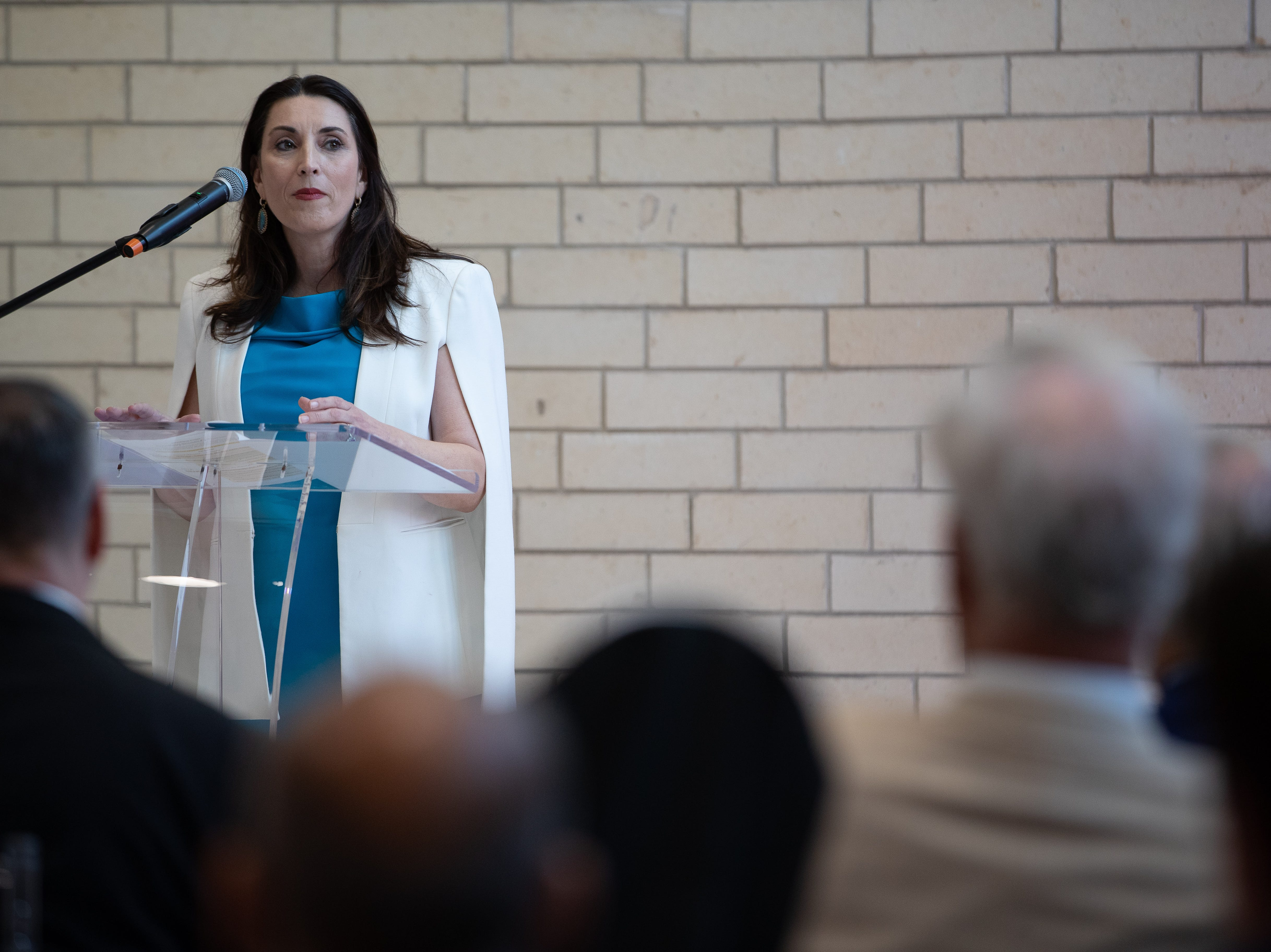 Nueces County Judge Barbara Canales speaks during the opening new $335 million North Tower at Shoreline Hospital on Thursday, March 28, 2019.