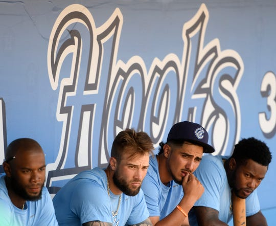 The Hooks have their first practice of the season in preparation for a preseason game with the Round Rock Expres, Friday, March 29, 2019, at Whataburger Field.
