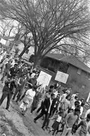 A local Civil Rights March was held on April 4, 1969 in honor of Dr. Martin Luther King Jr. More than 150 people participated in 3.6 mile trek from the courthouse to the Western Hills apartment complex.