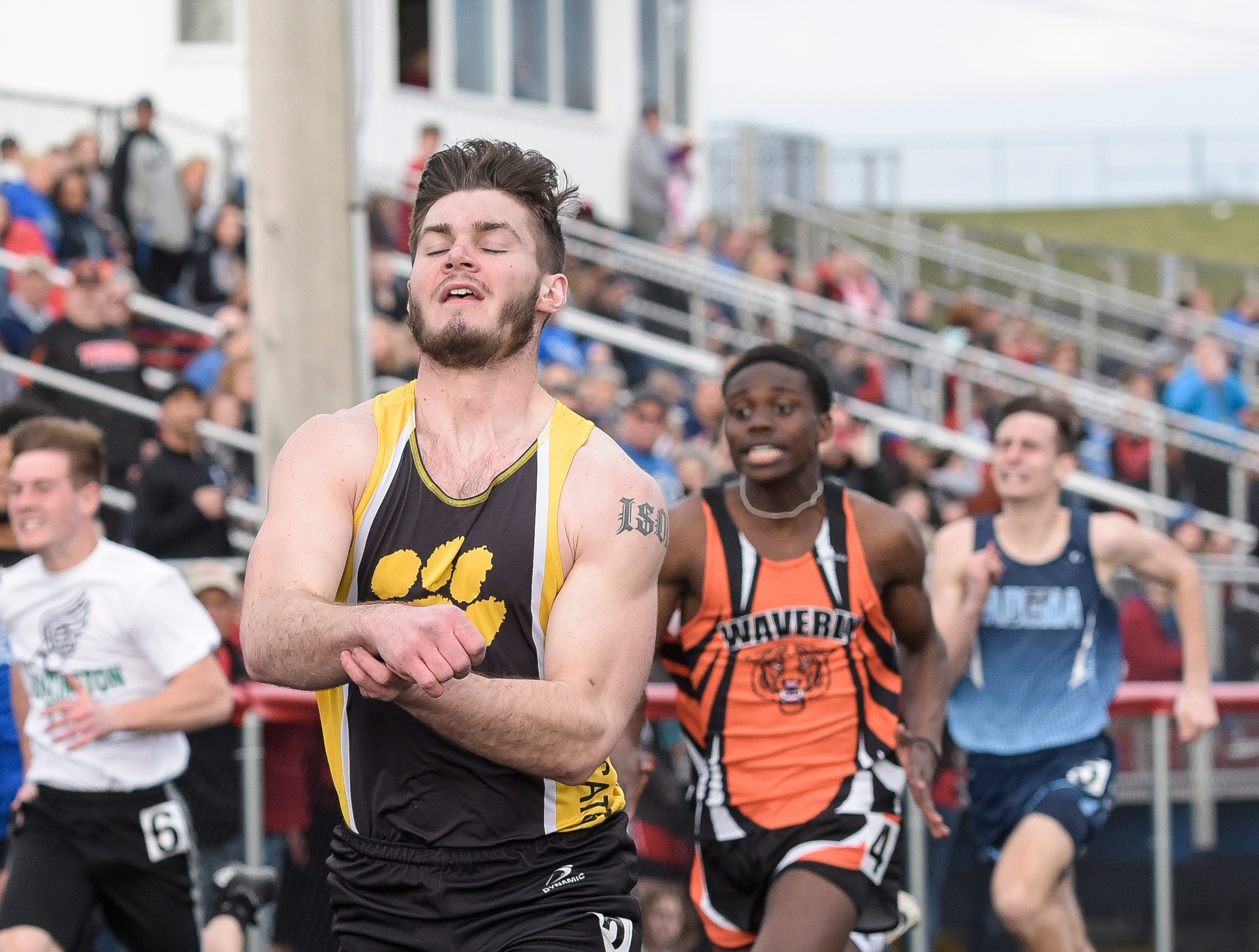 Paint Valley's Brayden Ison took first place in the boys' 100-meter dash with a time of 11.31 Thursday night at the Zane Trace Invitational on March 28, 2019. The Chillicothe High School track team took top local honors at the Zane Trace Invitational at Zane Trace High School. The girls took first overall with the boys taking second.
