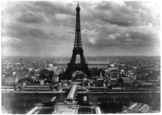 The Eiffel Tower in Paris was erected in 1889.