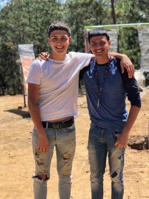 Left to right: Ramiro Rojos and Haxwell Espinazo of DePaul Cristo Rey High School