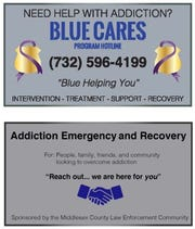 Middlesex County has just introduced the new Blue Cares program aimed at fighting drug addiction.