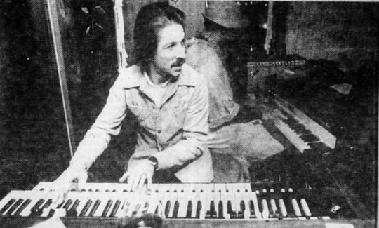 Keyboardist Sam Salamone leads the band on a January evening in 1978 at a prime hot spot for night life at the time, the Rusty Scupper.