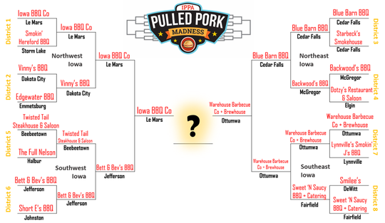 The Iowa Pork Producers Association has announced the winner of the Pulled Pork Madness contest.