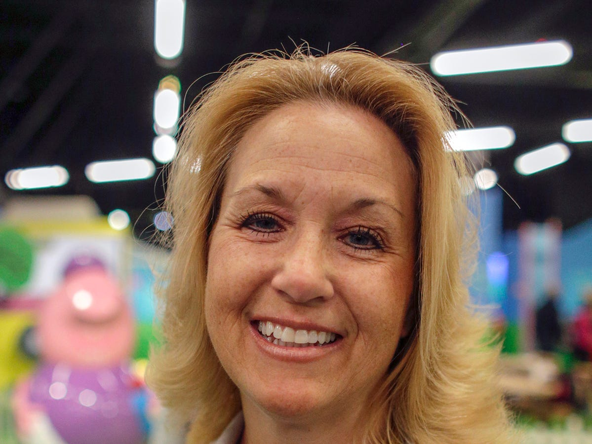 Dawn Priebe is the attraction manager at Peppa Pig World of Play attraction at Great Lakes Crossing in Auburn Hills, Mich. photographed on Friday, March 29, 2019.