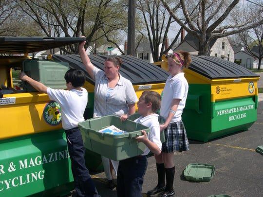 In 2005, St. Sebastian School in Dearborn Heights takes the top spot in a recycling program.