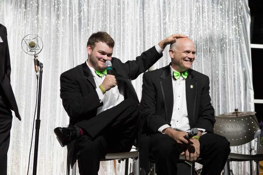 Tyler and Ron Fournier at the 2017 Autism Alliance of Michigan Gala. This year's gala, celebrating the non profit's tenth anniversary, will take place on April 13.