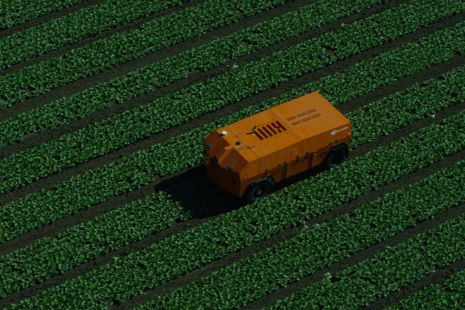 Livonia-based Roush Enterprises, best known for high-performance Mustangs and F-150s, has partnered with San Francisco tech start-up FarmWise to build self-driving vegetable weeders for farms.