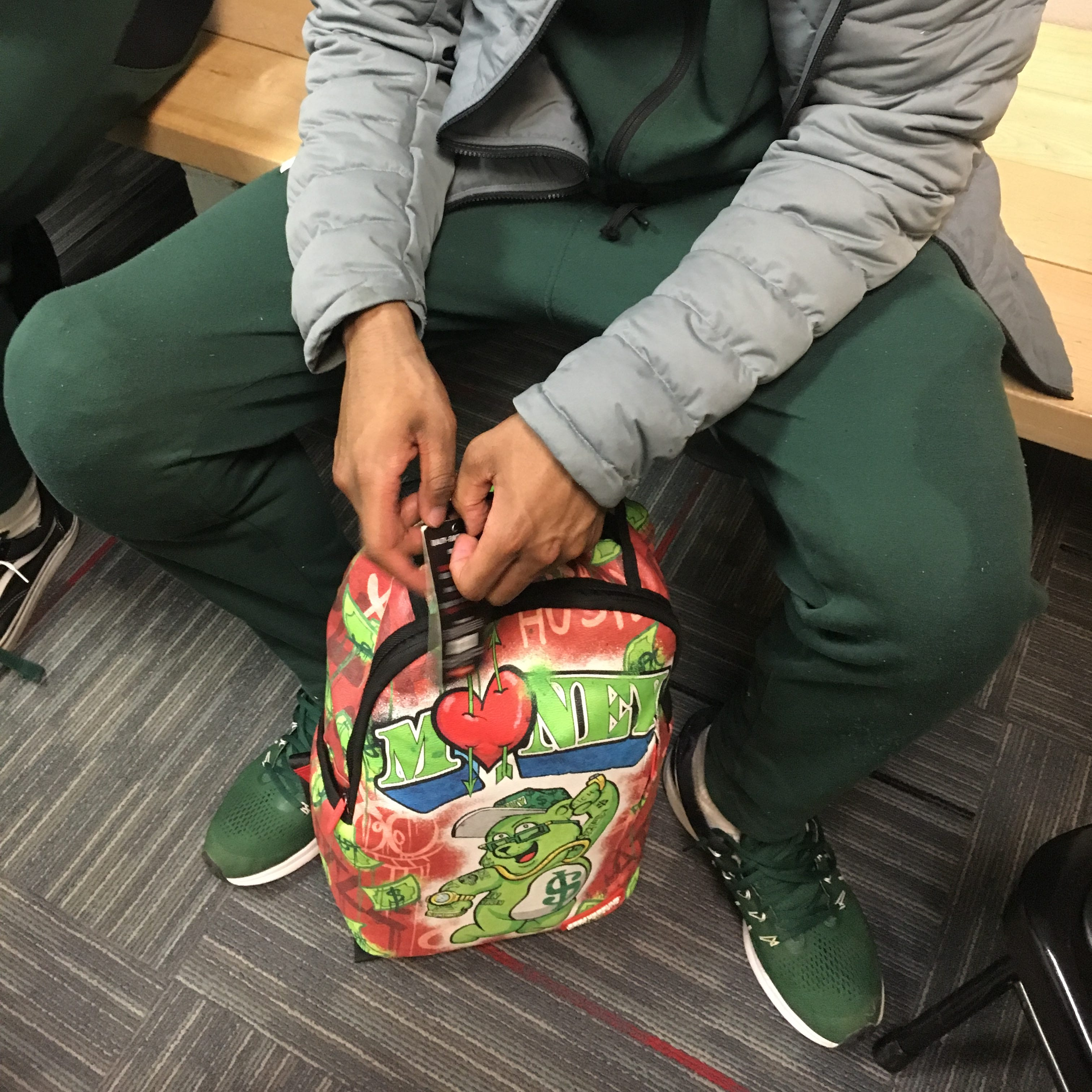 Unique backpack a perfect fit for MSU's 'Cash Money,' Cassius Winston