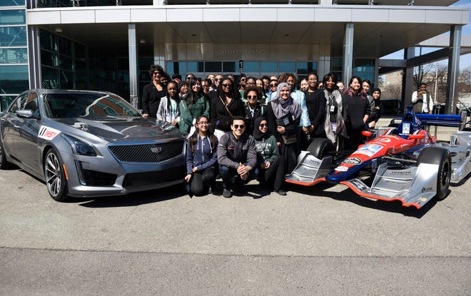 WeatherTech SportsCar Championship driver Pipo Derani visited Detroit Cass Tech High School on Wednesday. He spoke to about 60 female students at Cass Tech about opportunities in motor sports for women. Comerica Bank also announced that it would sponsor Free Prix Day (Friday, May 31) at the Detroit Grand Prix this year on Belle Isle.