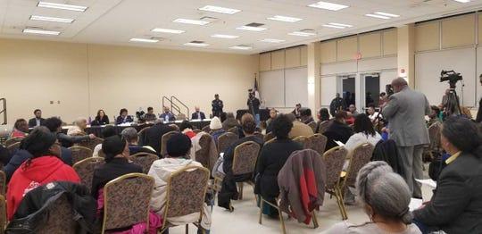 Tabernacle Missionary Baptist Church during a city council neighborhood meeting regarding Detroit's 2019 budget.