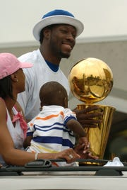 Ben Wallace was an All-Star on the Pistons' 2004 NBA championship team and is known for his defensive prowess.