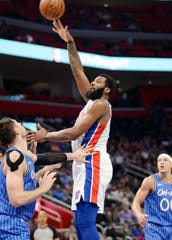 """He's like a cheat code,"" says Joe Sinke of Grand Rapids, who is known as @joe_truck on Twitter, about the rebounding power of Pistons' center Andre Drummond."