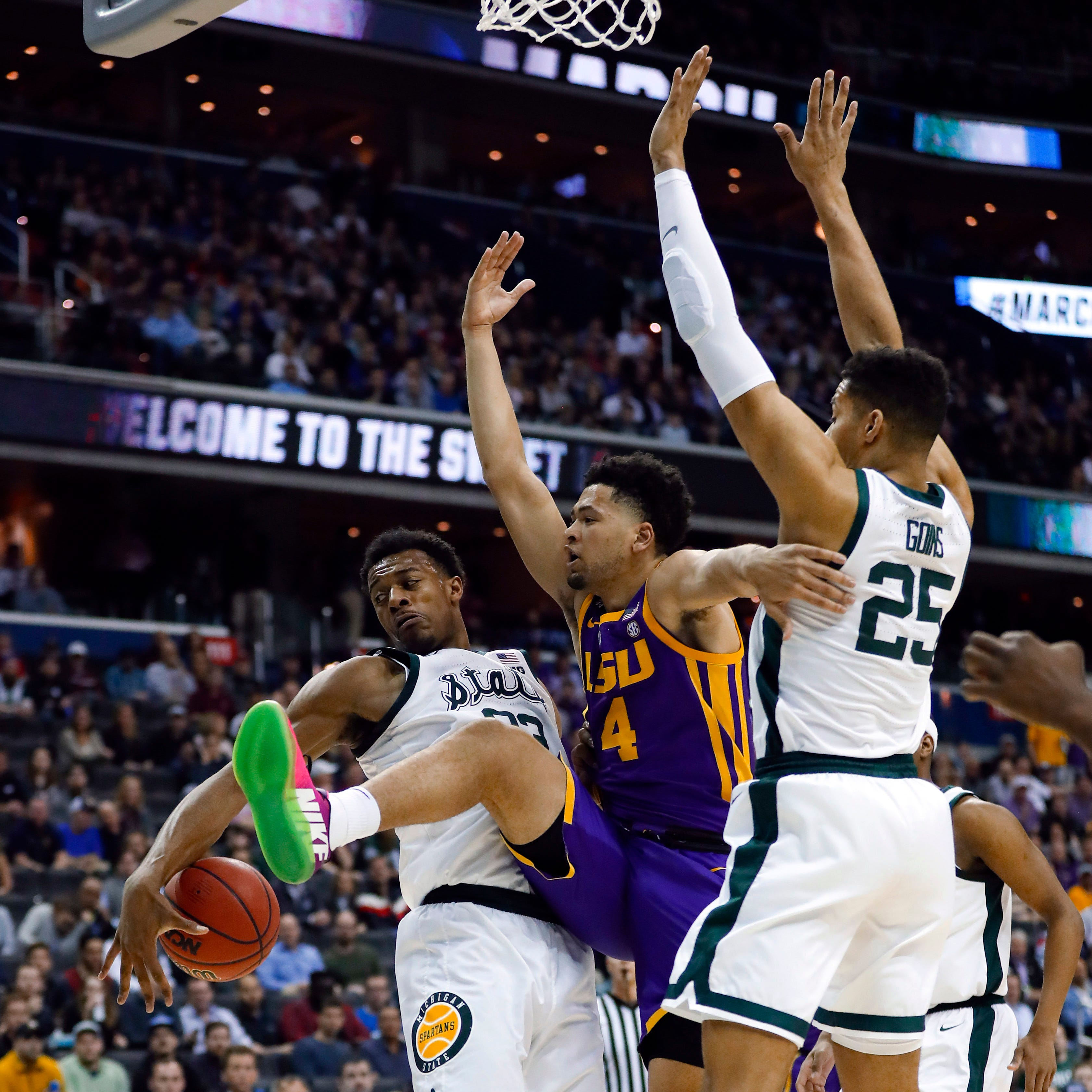 Recap: Michigan State smothers LSU, 80-63, in Sweet 16 matchup