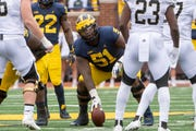 Center Cesar Ruiz is embracing the no-huddle offense.