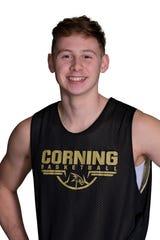 Corning senior boys basketball player Jordan Haggard.