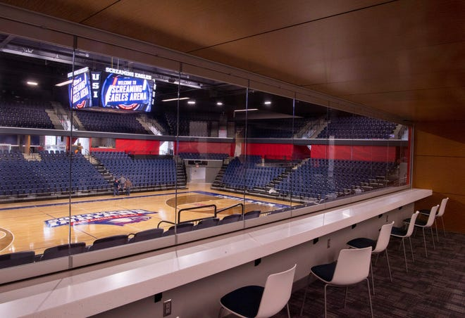 The Screaming Eagles Arena sports a new USI Varsity Club.
