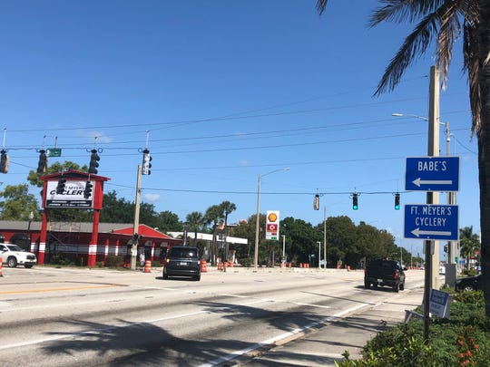 A sign on U.S. 41 was replaced multiple times because Fort Myers and Cyclery were misspelled.