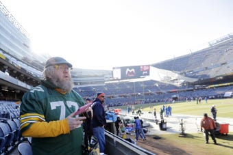 Russell Beckman, Green Bay Packers and Chicago Bears season ticket holder, sued the Bears after he couldn't wear Packers gear on Soldier Field's sidelines.