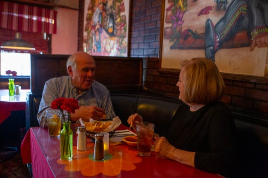 Sonja and Richard Johnson at El Matador, Thursday, March 28, 2019. The Johnsons have been coming to El Matdor for 37 years and love the hometown feel of the restaurant.