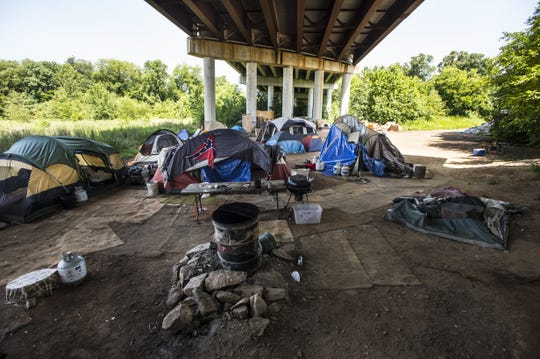 Greenville's Tent City on Tuesday, July 1, 2014.