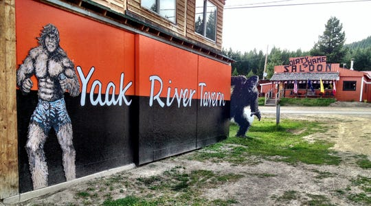 The northwestern Montana community of the Yaak hosts the Yaak Sasquatch Festival on  June 21-22, 2019. Cutouts around town celebrate the mythical creature.