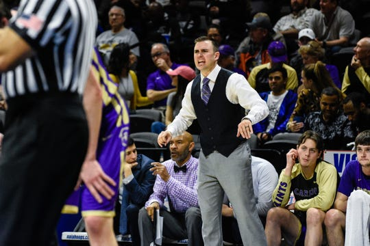 Carroll College head coach Kurt Paulson reacts during the NAIA national championship game last week in Kansas City, Mo.