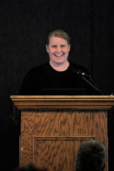 Susan Crocker entertained the crowd with her acceptance speech bringing out lots of laughter and smiles.