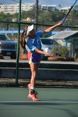 Action from last weekend's 47th Annual Chamorro Open, held at the Rick Ninete Tennis Center and Ypao Gardens Condominiums. The tournament continues for the next three weekends.