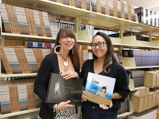 Victoria-Lola Leon Guerrero (right), managing editor, and Akina Chargualaf, marketing coordinator, form the two-woman team at the UOG Press.