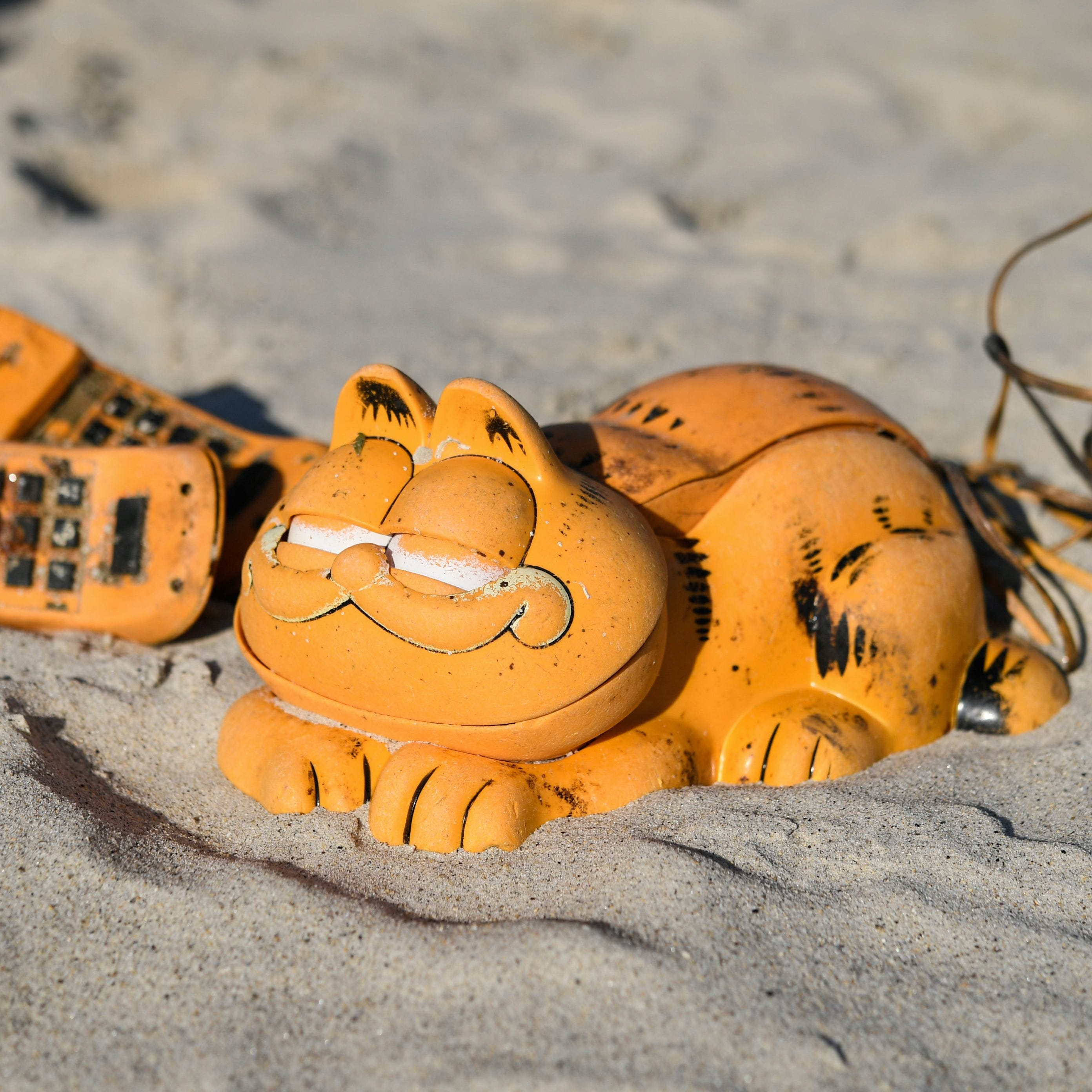 Telephones shaped like Garfield keep being found on French beaches. Now we know why.