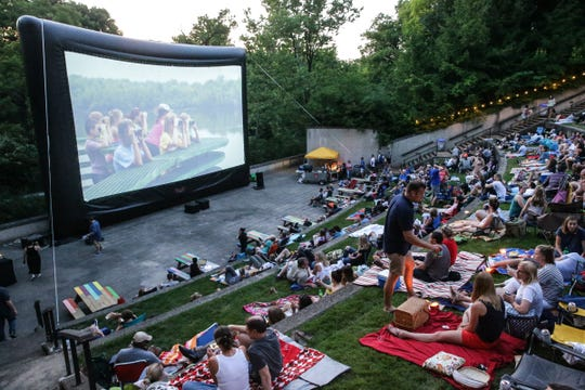 The Graduate, starring Dustin Hoffman, begins to play at the Indianapolis Museum of Art on the Newfields campus, for the Newfields Summer Nights Film Series on June 15, 2018.