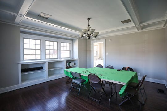 The dining area at Trinity Haven, which will provide transitional housing for homeless LGBTQ young adults, targeting ages 16 to 21, seen pre-renovation on Tuesday, March 26, 2019. The group home will accommodate up to 18 residents and provide mental health support and life counseling. It is supported by Trinity Church and Indiana Youth Group.