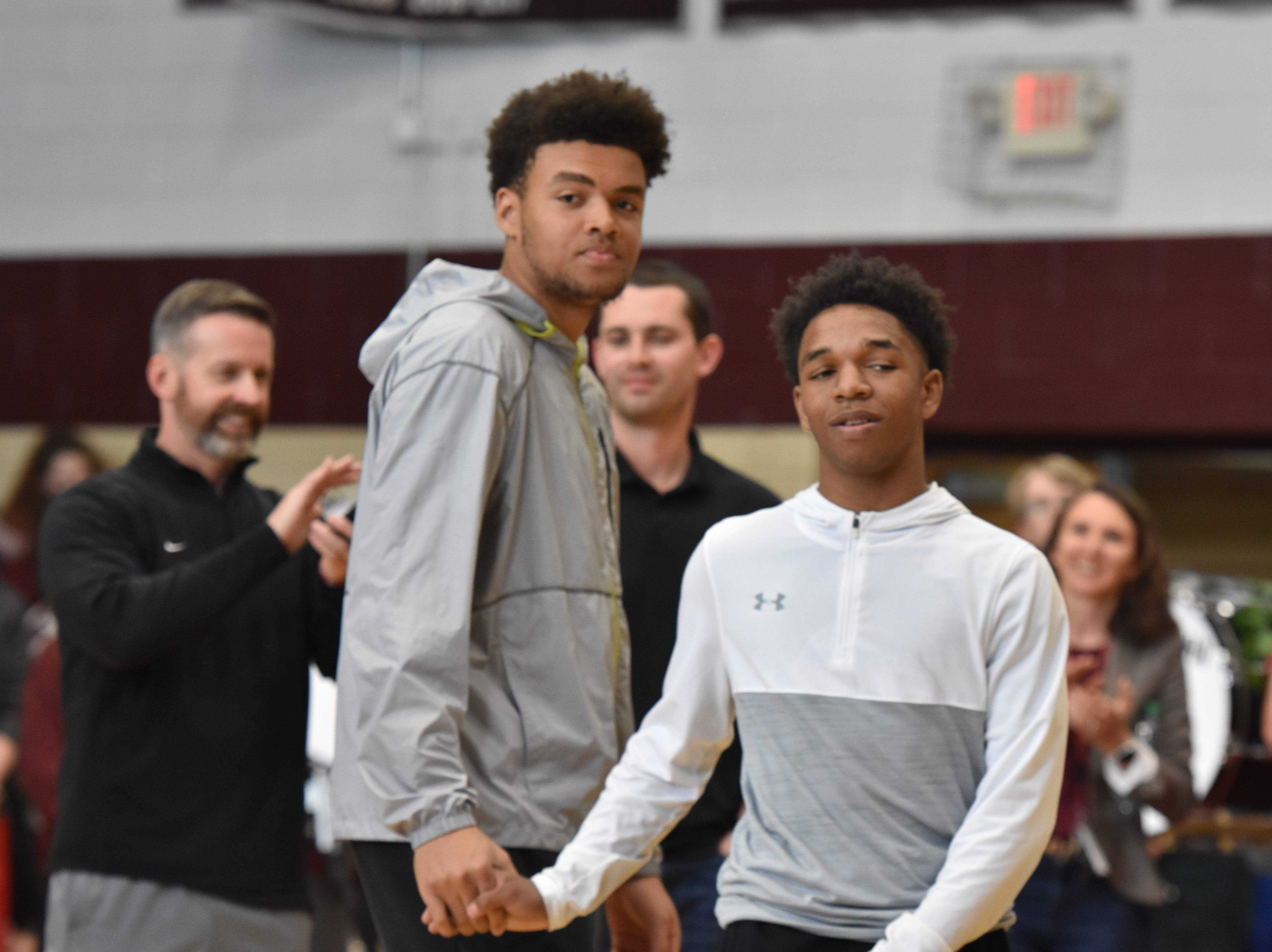 Bearden basketball players were honored at a pep rally Friday, March 29, to celebrate the school's basketball state championship.