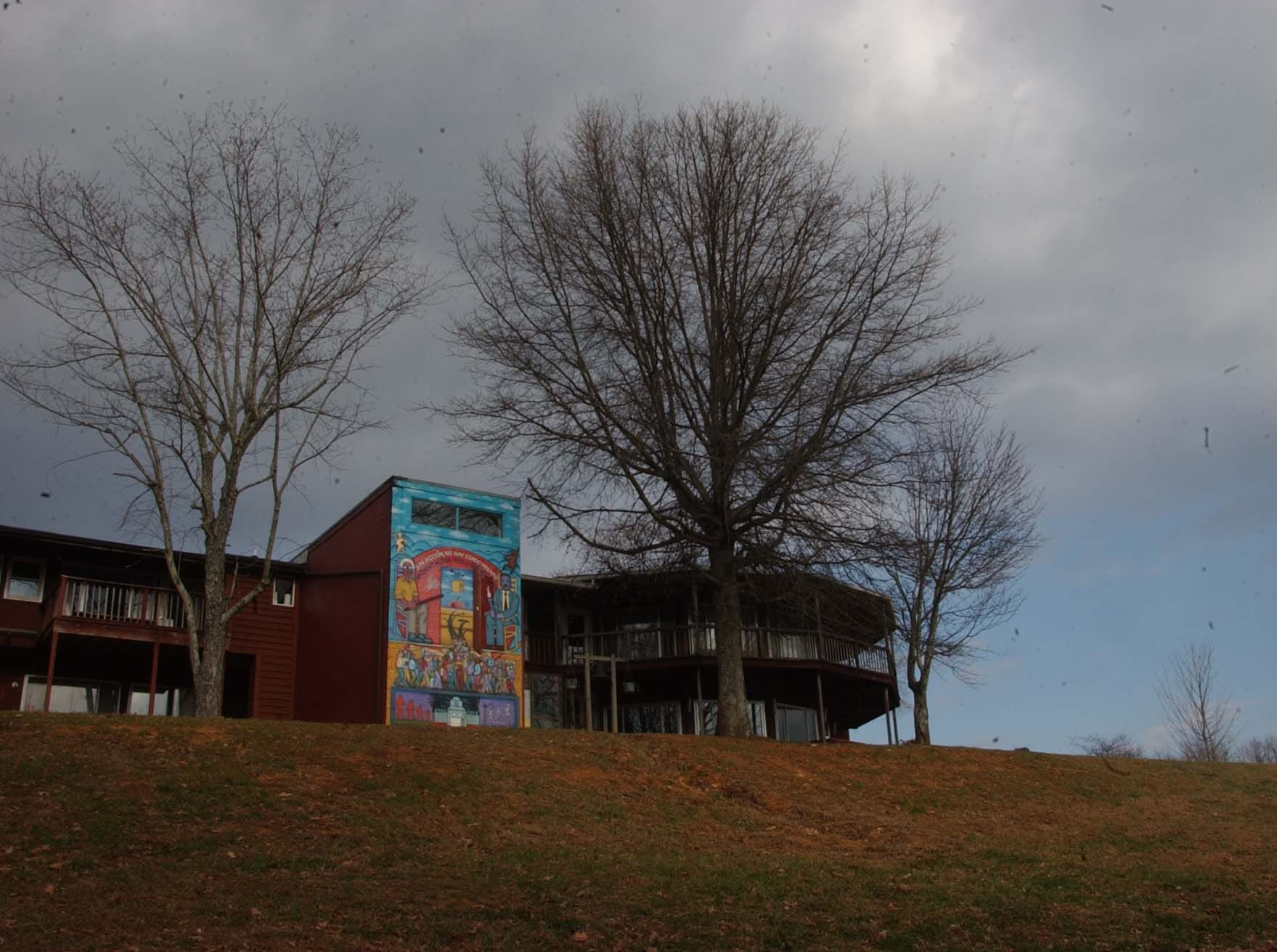 The Highlander Research and Educational Center in New Market is known for its social activism dating back over 50 years.  one wall of the workshop and conference building is decorated with a mural depicting the centers social activism.   Martin Luther King is included prominently in the mural. Jan. 14, 2003