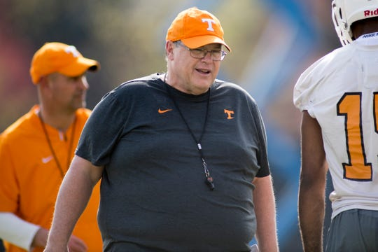 Offensive coordinator Jim Chaney is back for his second stint with Tennessee.