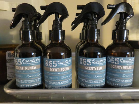 865 Candle Company also sells essential oils room sprays.