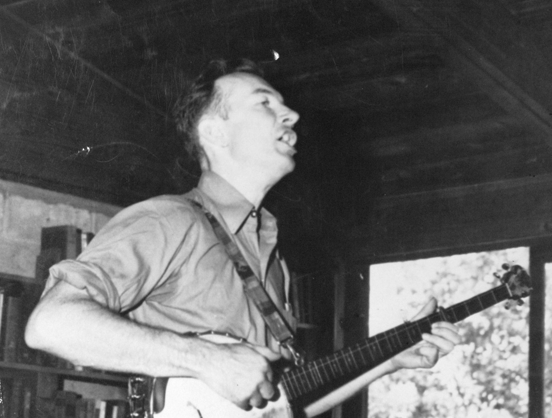 This 1959 photo provided by the Tennessee State Archives shows folk singer Pete Seeger performing at the Highlander Research and Education Center in Monteagle, Tenn. The little school tucked away in the east Tennessee mountains may have faded from the public spotlight, but it was once at the center of the struggle for civil rights.
