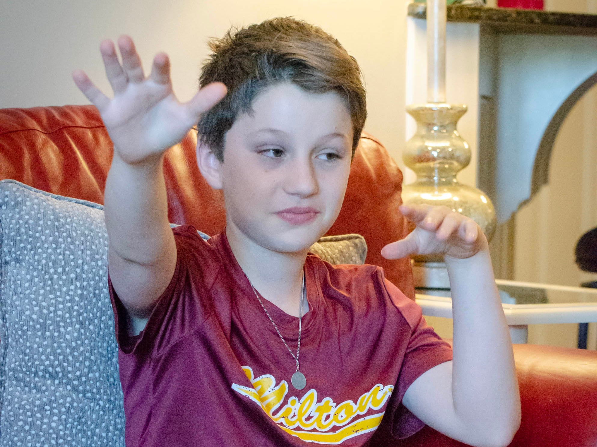 Colin McGee, 11, had a 7-inch malignant tumor and kidney removed, went through months of chemotherapy. He rang the bell celebrating his remission in January.