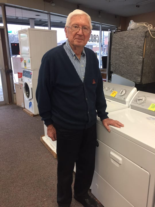 Good Housekeeping Shop appliance store has been in business for 86 years. Owner Dave Miller stands by some of the major appliances he sells.