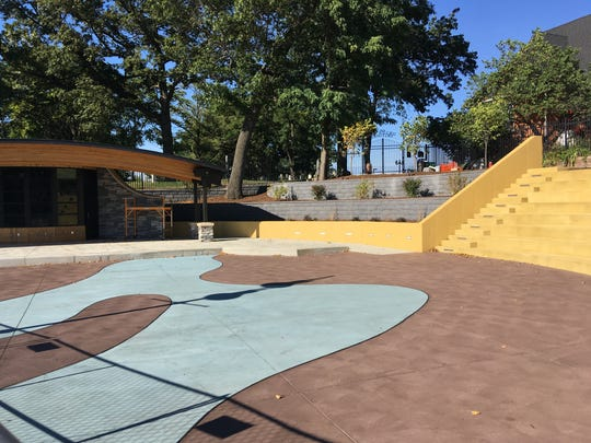 About $760,000 in renovations to Brighton's Mill Pond amphitheater, which has been renamed The AMP,  include a new band shell and paved steps for people to sit on. A grand opening will be held May 4.