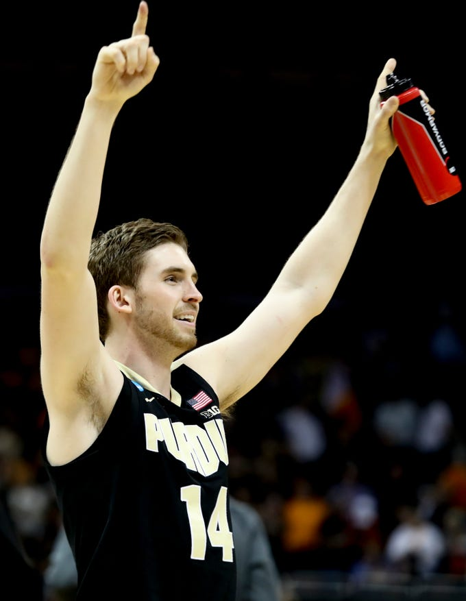 Purdue's Ryan Cline celebrates after they defeat Tennessee on March 28 to advance to the NCAA Elite 8.