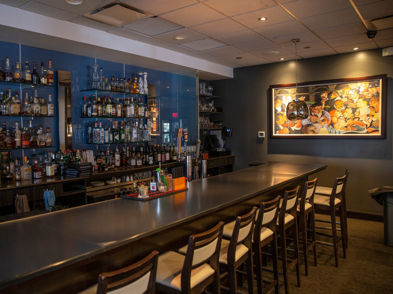 The bar at Annosh Bistro. March 28, 2019.