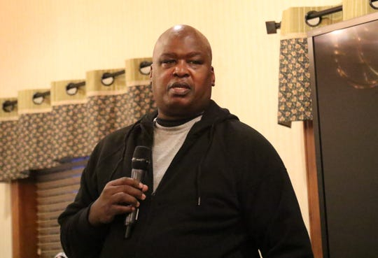 Former world heavyweight champion Buster Douglas was the guest speaker at the banquet honoring the players in Friday night's 41st News Journal Basketball Classic.