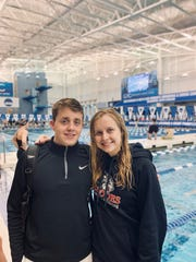 Rhodes College brother and sister swimming duo Hayden and Allie Hill both qualified for the NCAA Division 3 Swim Championships in Greensboro, N.C.