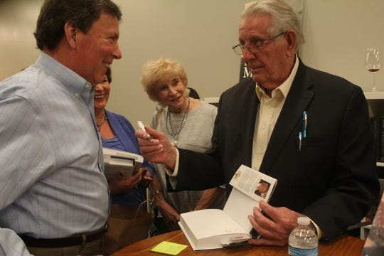 "Bill Morris (right), former mayor of Shelby County,  held a signing event on Thursday, March 28, 2019 for his book ""Bill Morris: A Legendary Life""."