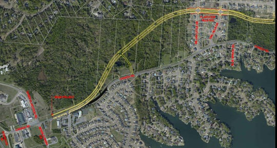 An illustration shows a portion of the planned New Canada Road in Lakeland.