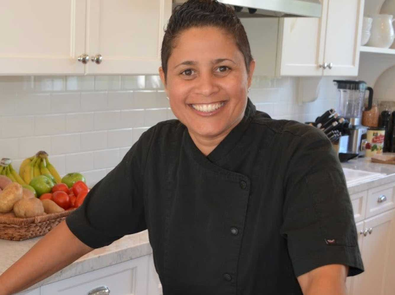 """Personal chef Angelique Santana,  author of """"Food is Love,""""  works with clients on food shopping, menu planning and organizing their kitchens."""